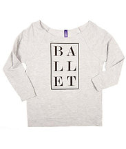 Covet Ballet Classique 3/4 Sleeve French Terry Raglan Top