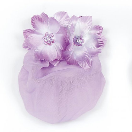 Dasha Designs 4041Dual Flowers w/Sequin Center Snood