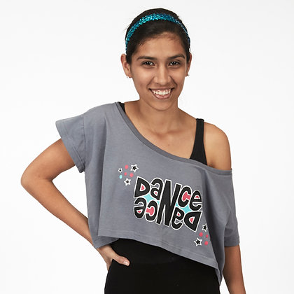 Dasha Designs Double Dance Oversized Cropped Tee