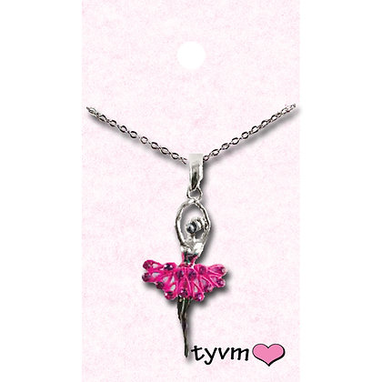 tyvm 79510 Ballerina w/Crystal Necklaces