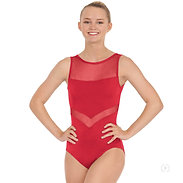 Eurotard 59758 Womens Arrow Mesh High Neck Leotard