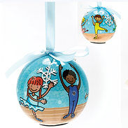 Dasha Designs 6070 Blinking Ballet Ornament