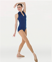 Body Wrappers P1002 Power Mesh Zip Front Leotard