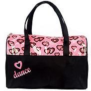Dasha Designs 4941 Glittery Hearts Dance Duffle