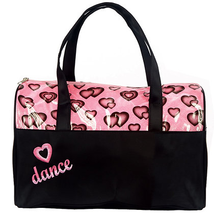 Dasha Designs 4941 Glittery Hearts Dance Duffle