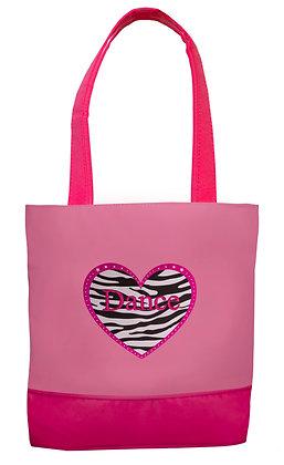 Sassi Designs ZHD-03 Zebra Heart Dance Tote