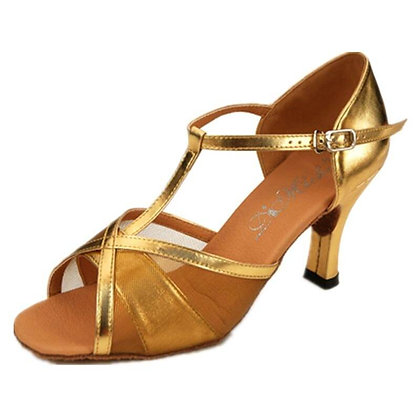 "Di Michi T-10 Adult ""Celine"" Mesh Ballroom Shoe"