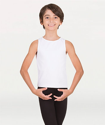Body Wrappers B407 Boy's Hi-Neck Tank Pullover