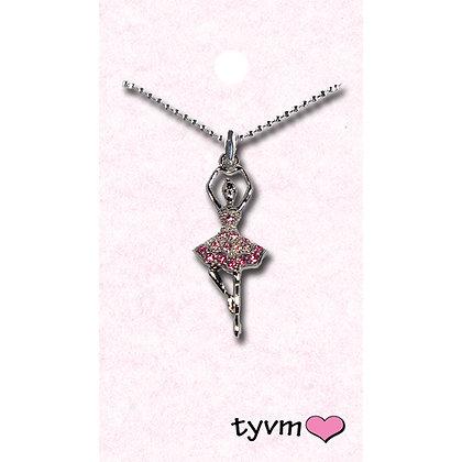 tyvm 79752 Ballerina Necklaces w/Crystals