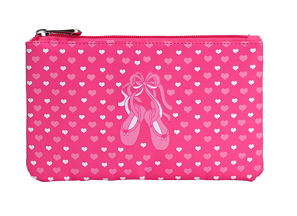 Sassi Designs BAL-60 Slippers n' Hearts Accessory Pouch