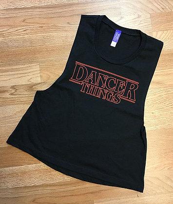 Covet Dancer Things Crop Muscle Tank