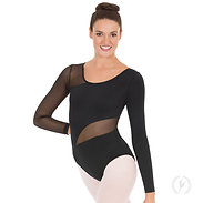 Eurotard 45896 Womens Asymmetrical Mesh Leotard