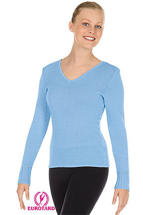 Eurotard 72517 Womens V-Neck Long Sleeve Sweater