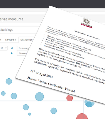 EnerOnline ISO 50001:2011 Energy Management Systems Verification of conformity Bureau Veritas