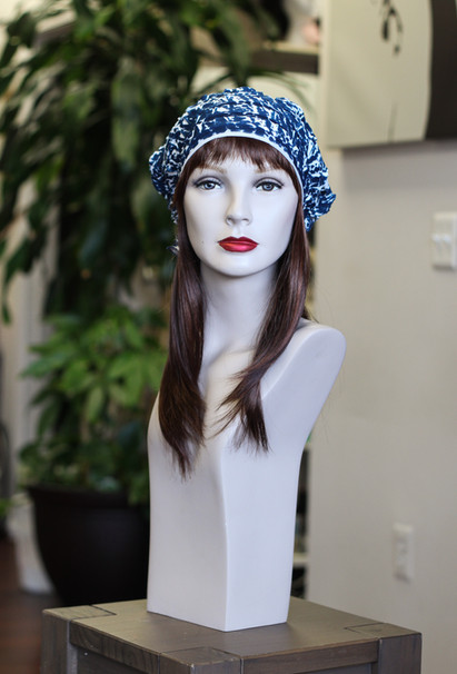 Synthetic Halo with Ruffle Cap