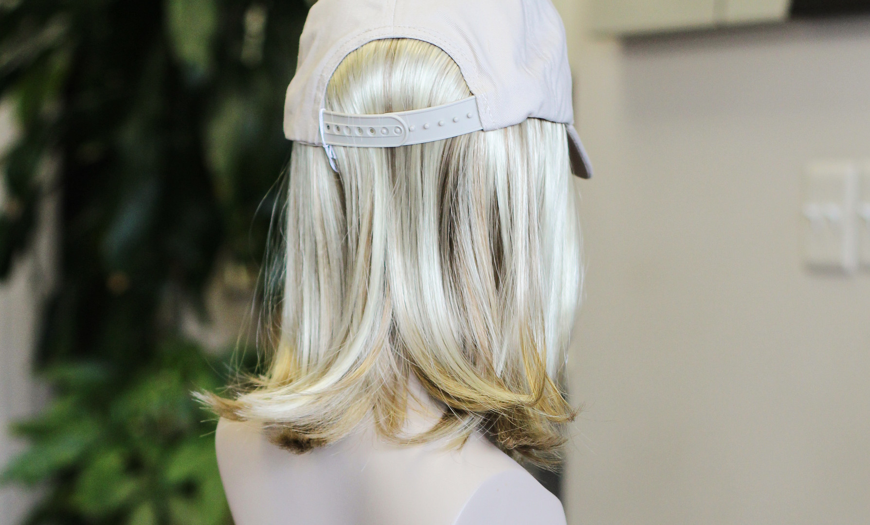 Hat with Synthetic Hair