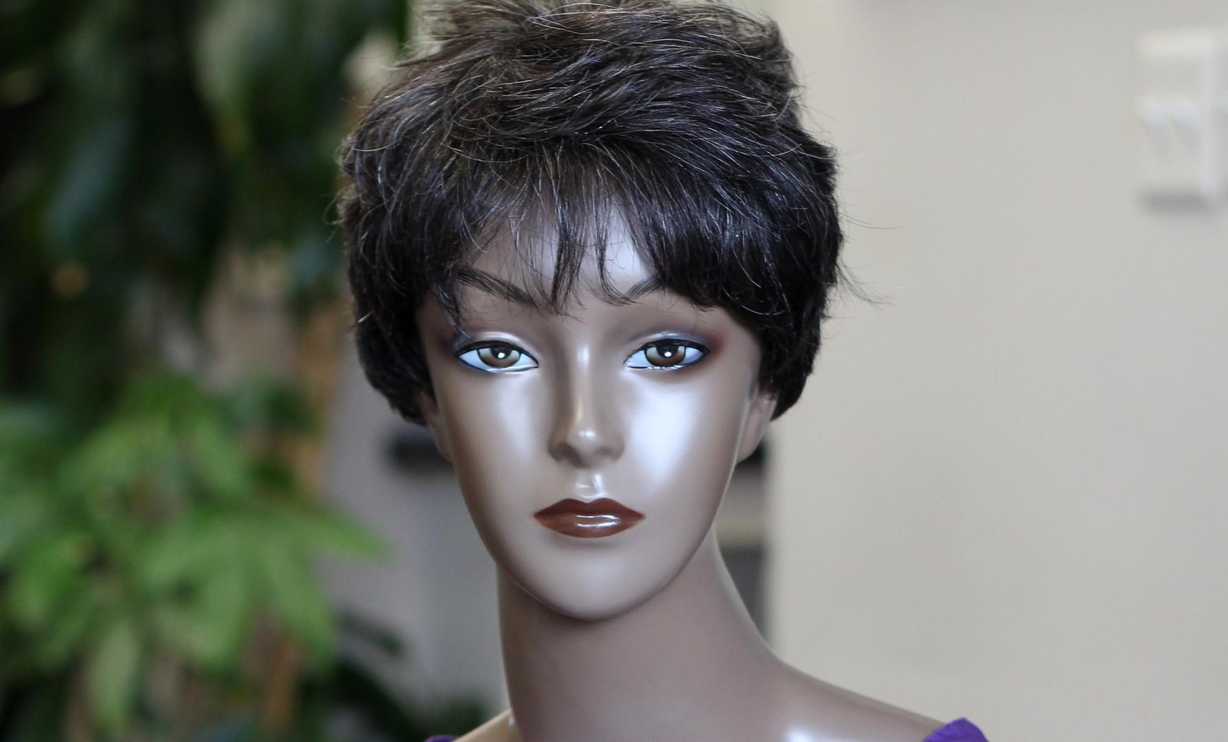 Short Human Hair Pixie D