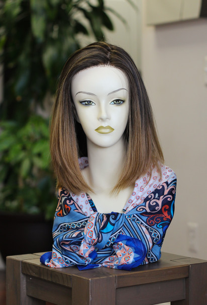 Lace Front Straight Ombré Human Hair N