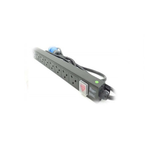 Allrack 6 Way UK Horizontal PDU With 32A Commando Plug PDU6H32