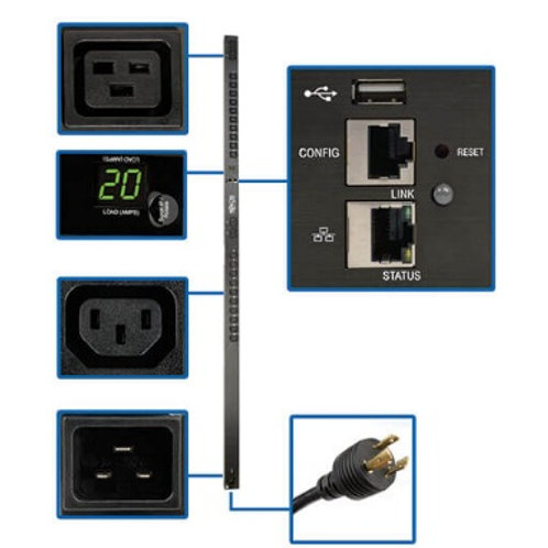 Tripp Lite 3.7kW Single-Phase Monitored 0U PDU PDUMNV20HVLX