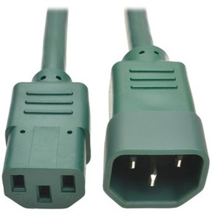 Tripp Lite Green C14 Male to C13 Female Power Cable P004-002-AGN