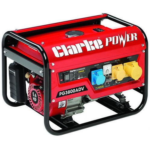 Clarke PG3800ADV 3kVA 230V/115V Dual Voltage Petrol Generator 8857854