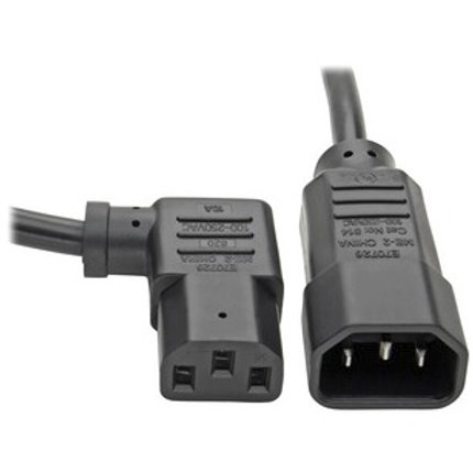 Tripp Lite C14 to Right-Angle C13 Computer Power Extension Cord P004-002-13RA
