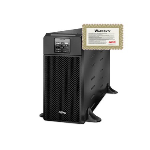 APC Smart-UPS 6kVA 230V Rack Mount with 6 year warranty package SRT6KRMXLI-6W