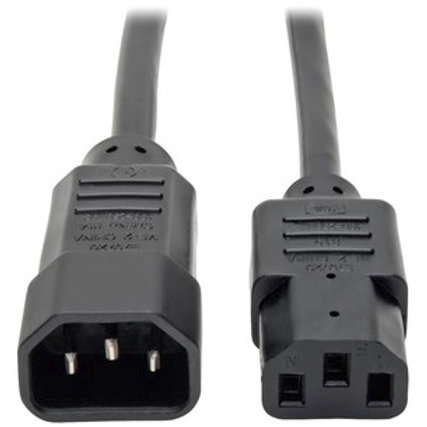 Tripp Lite C14 Male to C13 Female Power Cable P004-002