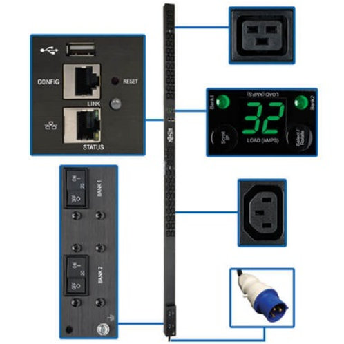 Tripp Lite 7.4kW Single-Phase Monitored 0U PDU PDUMNV32HV2LX