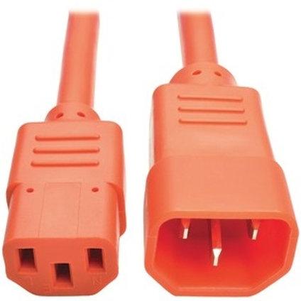 Tripp Lite Orange C14 Male to C13 Female Power Cable P004-002-AOR