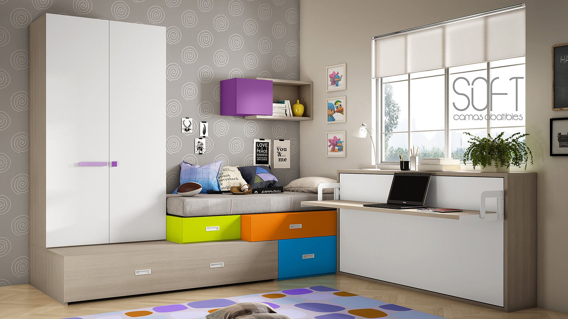 escamotable horizontal avec bureau ferme with meuble bureau ferm avec tablette rabattable with. Black Bedroom Furniture Sets. Home Design Ideas