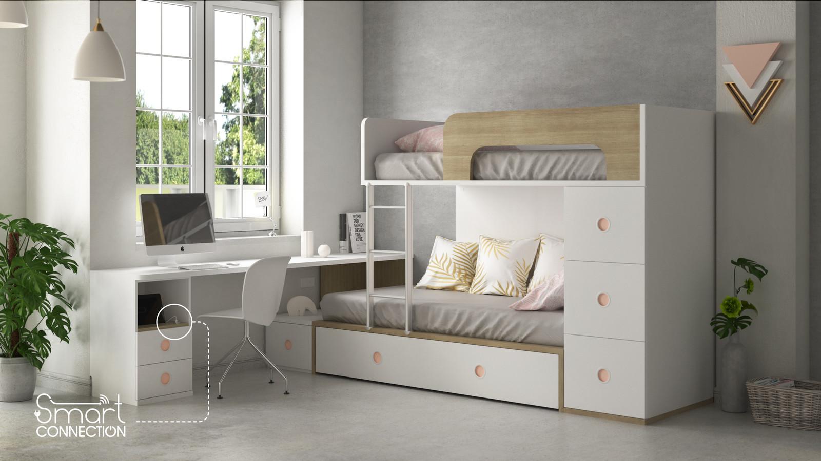 Lits gain de place pour enfant et meubles sur mesure lits superpos s ih195 - Lits superposes sur mesure ...