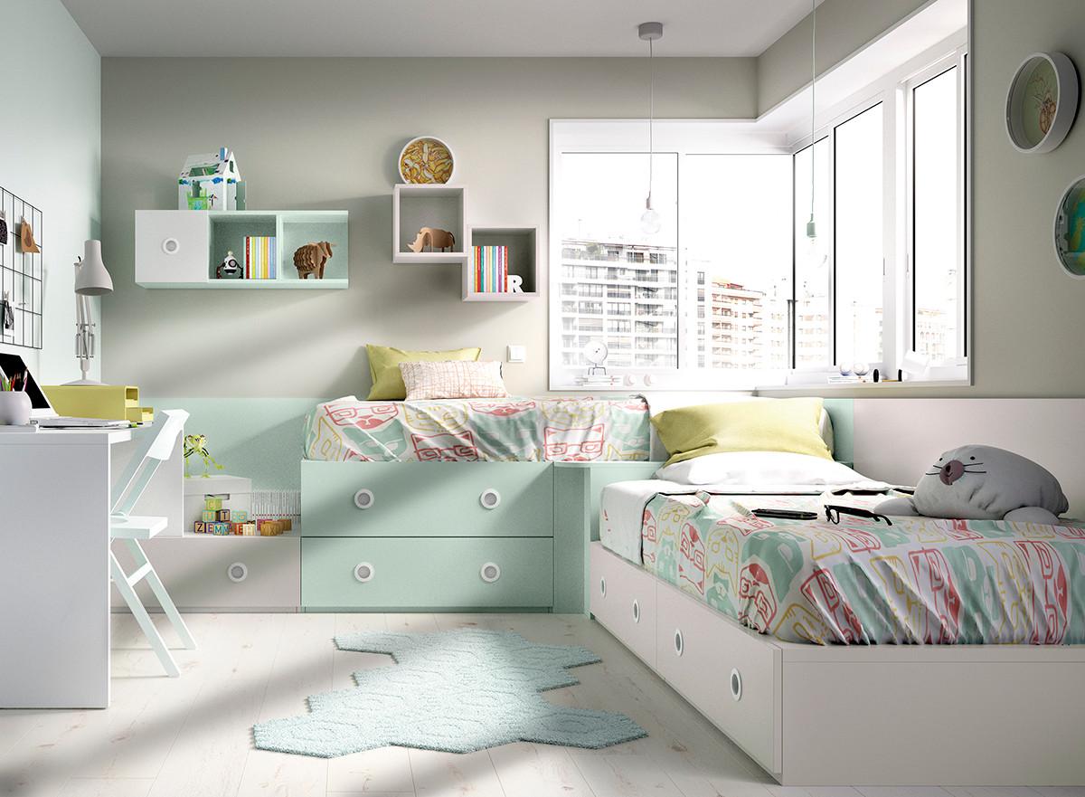 Meubles malins lits modulables sur mesure for Habitaciones de dos camas