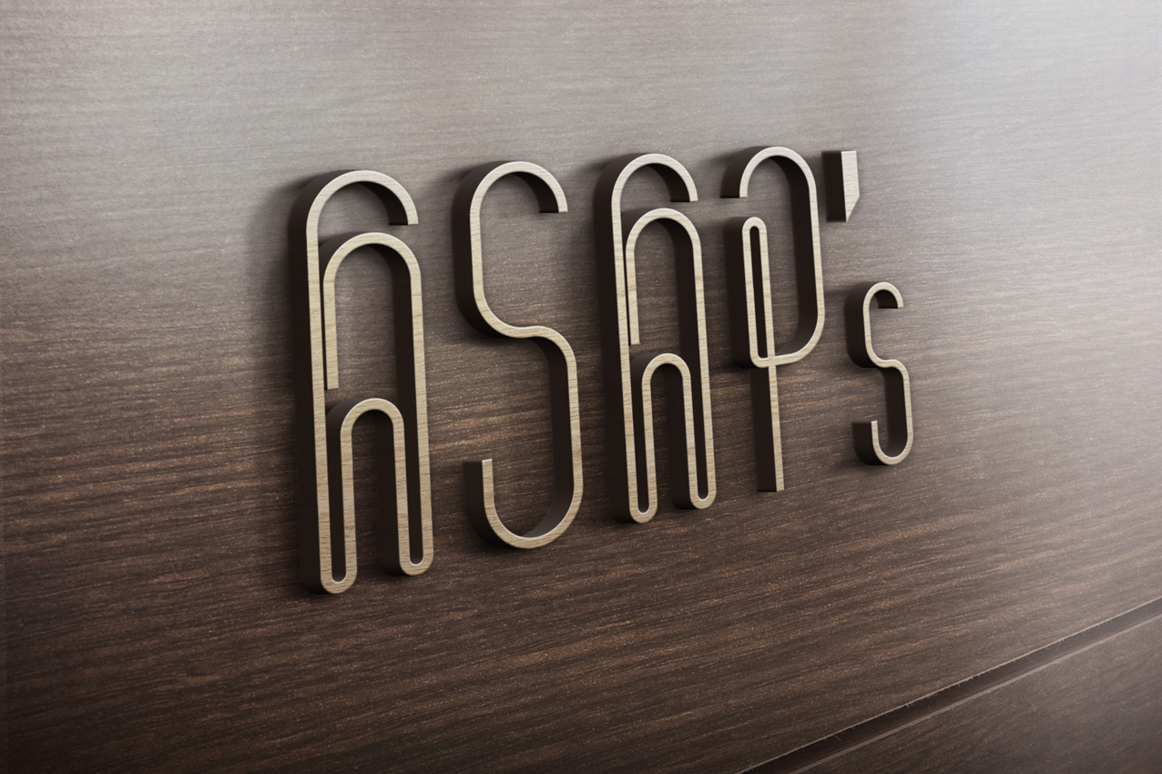 ASAP's Wooden logo