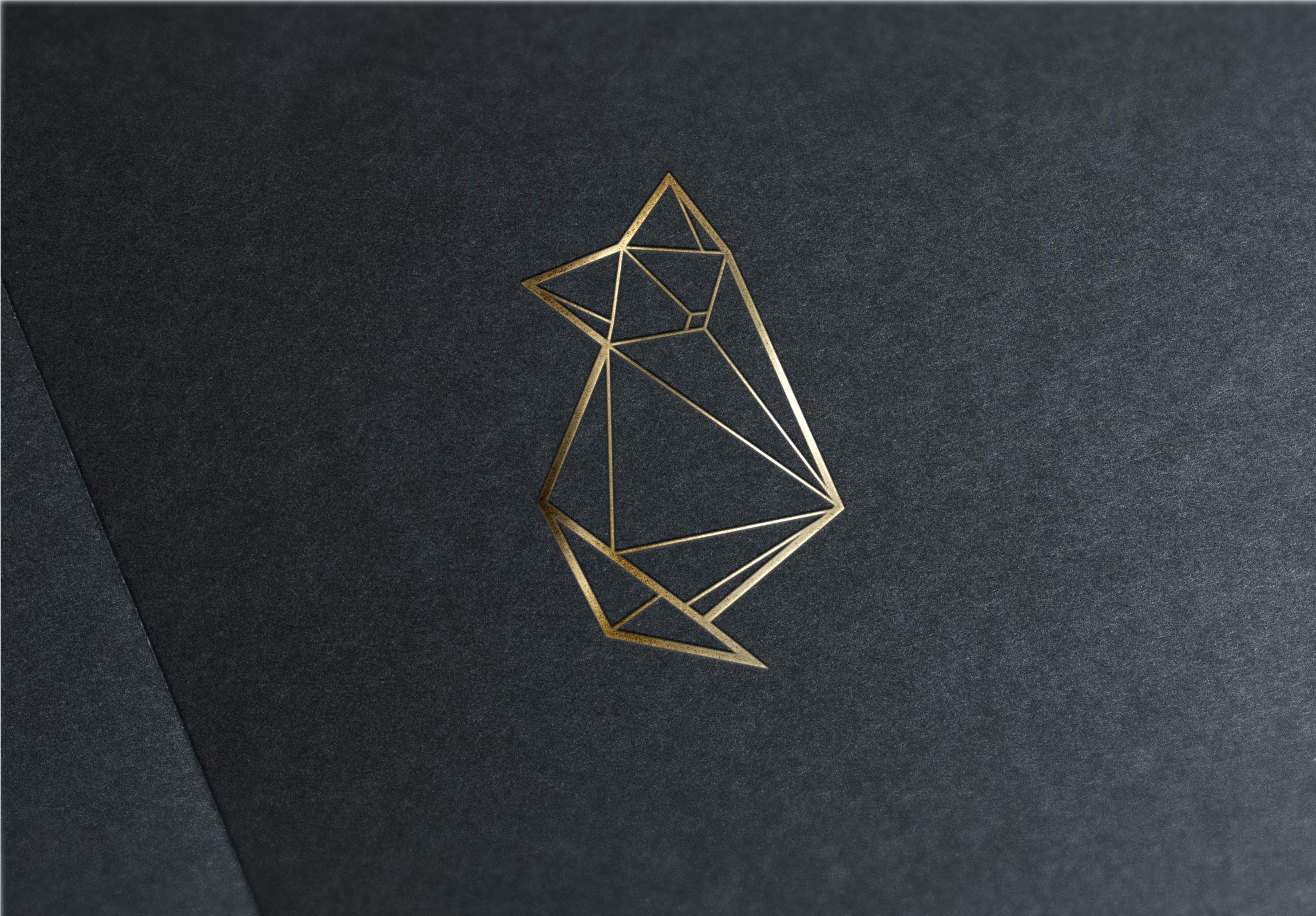 Le renard qui passe - Logo gold