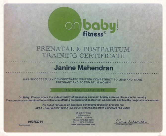 Pre & Post Natal Trainer Certificate