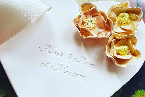Ringschale personalisiert mit Blumen