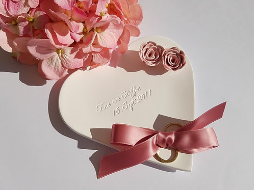 Ringschale Nature personalisiert mit Rosen