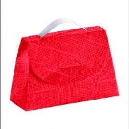 Kartonage Tasche Rot