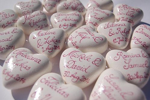 Herzen personalisiert Creme