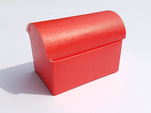 Kartonage Schatztruhe Rot