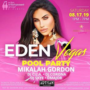Eden Entertainment Pool Party