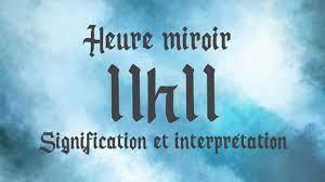 Signification l'heure miroir 11h11