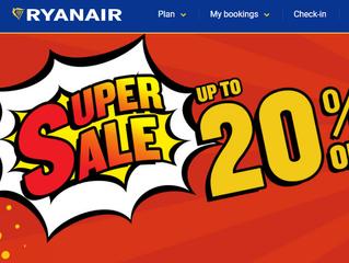 20% SALE Ryanair, 30% Accord hotels и другие новости