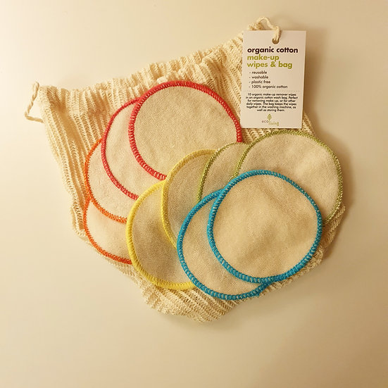 100% Organic Cotton Make-Up Remover Pads