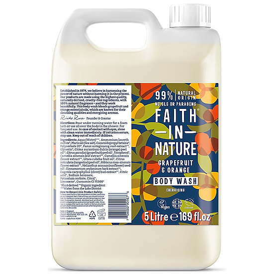 Faith In Nature Body Wash - Grapefruit & Orange