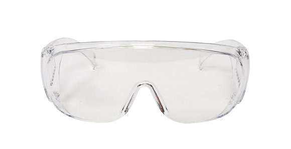 front view clear over glasses safety glasses