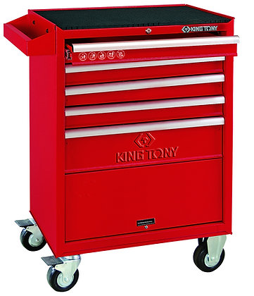 front view red 5 draw tool cabinet