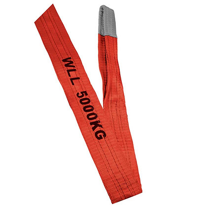 top view red polyester sling